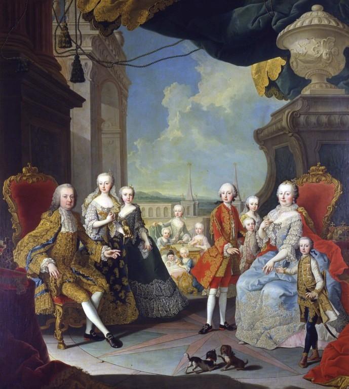 Bild: Kaiserliche Familie (Martin van Meytens, 1754)